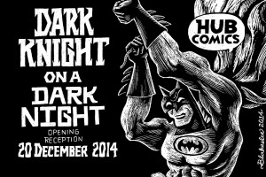 Dark Knight on a Dark Night Hub Comics poster detail by Dan Blakeslee