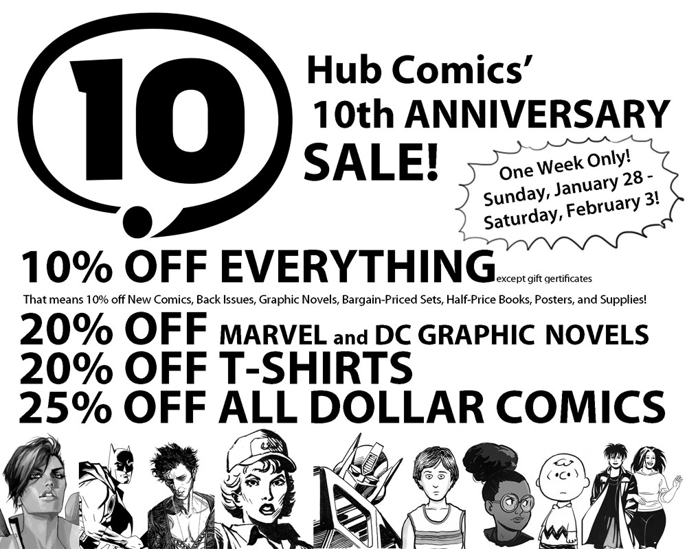 Hub Comics 10th Anniv Sale